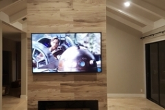 Custom fireplace and television home remodeling in Delray Beach
