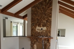 Feature wall construction project management in Delray Beach