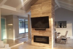 Custom fireplace and television home remodeling project