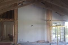 Home improvement contractors prepare the space