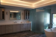 Bath remodel for Lake Worth Home with custom lighting in ceiling