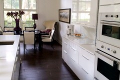 Saunders kitchen remodel with white cabinets