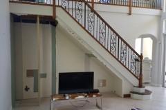 Progress of entryway home remodeling in Boca Raton