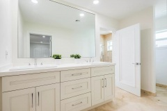 Bathroom remodel in Delray Beach, Florida, double sinks