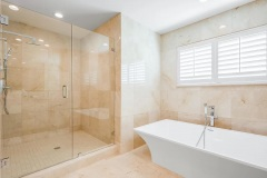 Bathroom remodel in Delray Beach, standalone tub and shower