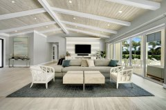 Living room after Home remodeling in Delray Beach, FL