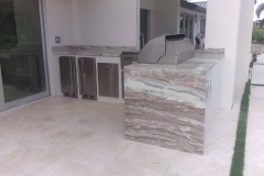 Custom counter tops for outdoor kitchens