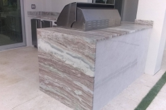 Close up of counter top in outdoor kitchen