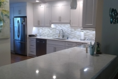 Kitchen remodel in Delray Beach, Florida with custom lighting