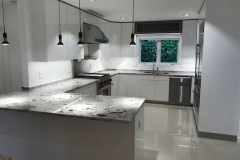 Kitchen remodel with island in Boca Raton, FL, home