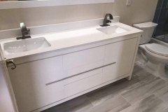 Double sink bathroom remodel in Lake Worth