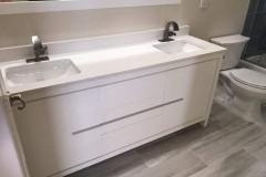 Double sink bathroom remodel in Lake Worth