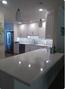 Kitchen Remodel in Lake Worth with white countertops