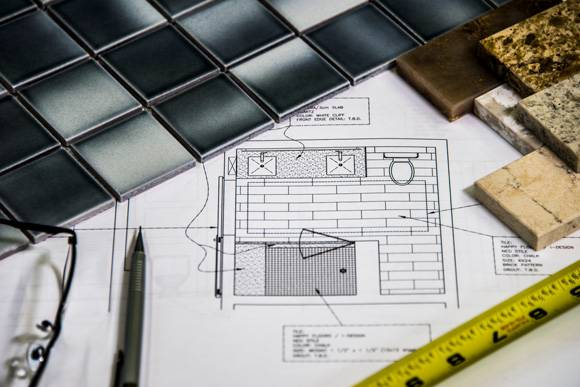 Construction Project Management in Lake Worth with blueprints